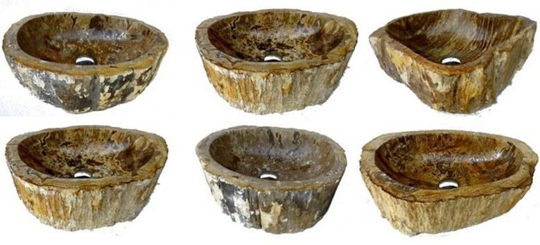 Vasque en bois fossilisé