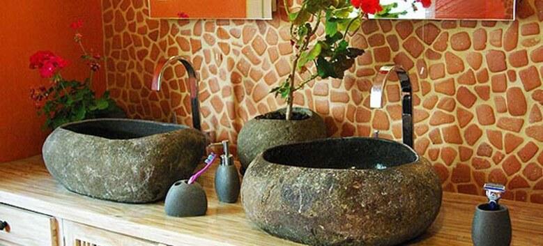 Duo 2 vasques en pierre